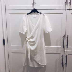 NWT White Dress w Gold Ring